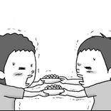 【衝撃の結末】ボーロ争奪戦の末、双子のとった行動が予想外『コウノトリが二羽飛んできた』