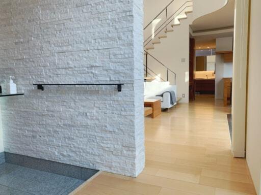 玄関から直行できる洗面所