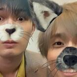 SixTONESジェシー&田中樹、ウサギとオオカミに!『オオカミ少年』フィルター公開
