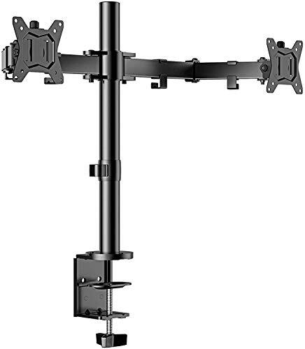 ErGear PCモニタアーム デュアル 17~32型 耐荷重8kg 2画面 ディスプレイアーム VESA規格100*100 多角度調節