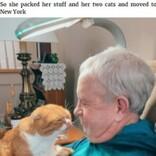 がんの男性にピタリと寄り添うネコ 「病気だとわかるのよ」と飼い主(米)<動画あり>