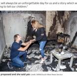 部屋が全焼、雪山で滑落…プロポーズでとんだ災難に見舞われたカップルたち<動画あり>