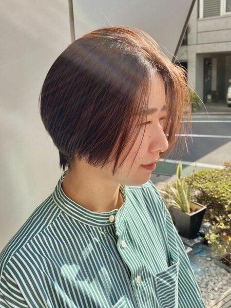 夏におすすめのハンサムショートの髪型