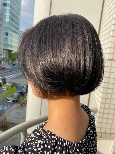 夏におすすめの丸みボブの髪型
