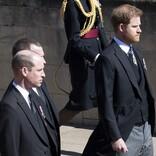 英ウィリアム王子&ヘンリー王子、フィリップ殿下の葬儀に参列 言葉を交わす様子も