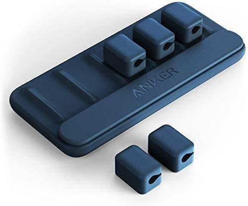 Anker Magnetic Cable Holder マグネット式 ケーブルホルダー ライトニングケーブル USB-C ケーブル Micro USB ケーブル 他対応 (ブルー)