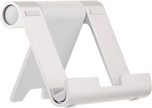 Amazonベーシック タブレットスタンド マルチアングル ポータブルスタンド タブレット/キンドル/スマートフォン用 シルバー