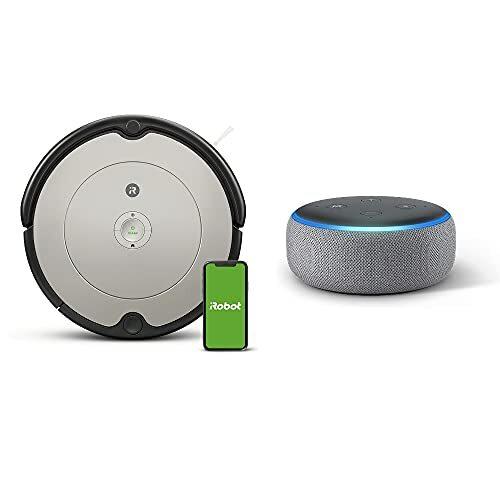 【セット買い】Echo Dot (エコードット) 第3世代 ヘザーグレー + ルンバ 692 アイロボット ロボット掃除機 Alexa対応モデル