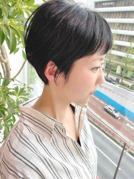 前髪短めボブ4