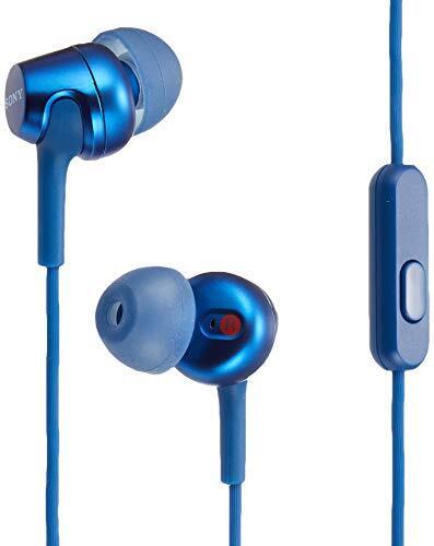 ソニー イヤホン MDR-EX255AP : カナル型 リモコン・マイク付き ブルー MDR-EX255AP L
