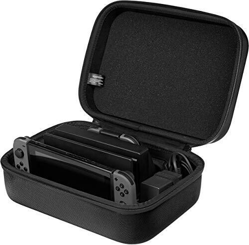 Amazonベーシック Nintendo Switch専用収納バッグ ハードケース 旅行用 30×12×23cm ブラック