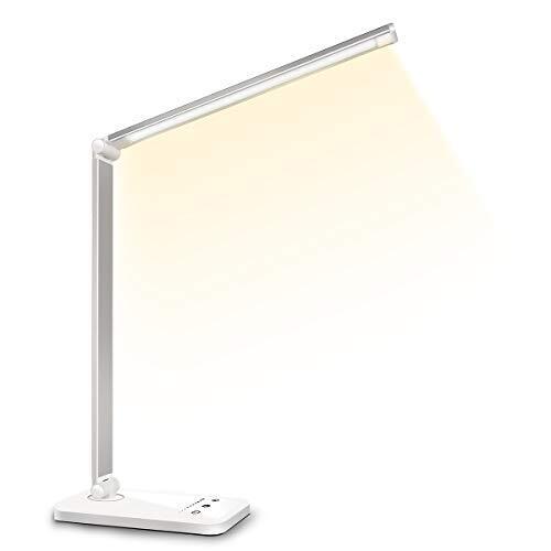 デスクライト LED 電気スタンド 卓上ライト スタンドライト 目に優しい 省エネ 机 テーブルスタンド タッチセンサー調光 USBポート付け 読書 勉強 仕事 USBライト ブックライト コンセントがない