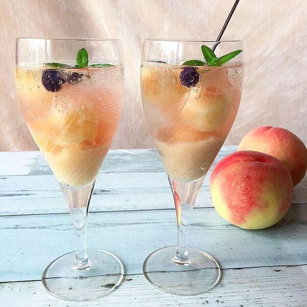 桃のクラッシュゼリー