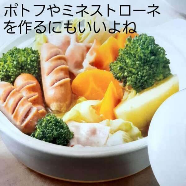 土鍋でポトフ作り