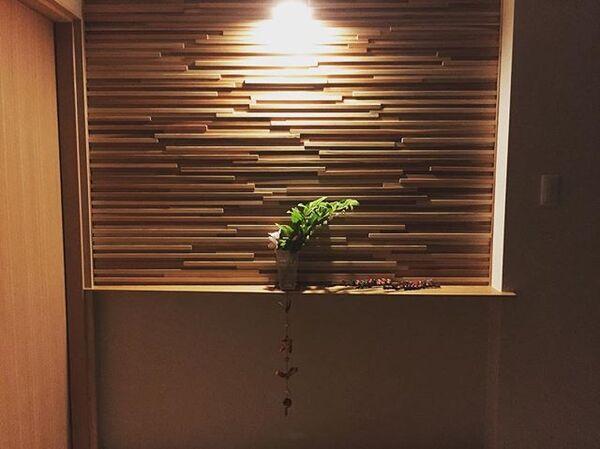 木材を使ったディスプレイコーナー