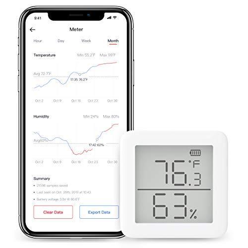 SwitchBot 温湿度計 デジタル スマート家電 高精度 スイス製センサー スマホで温度湿度管理 アラーム付き グラフ記録 アレクサ、Google home、HomePod、IFTTT に対応(ハブ必要)