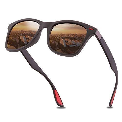 偏光サングラス 偏光レンズ UV400 紫外線反射光・強光眩しい光・グレアからカット 超軽量フレーム採用 超抗衝撃 釣り 自転車 運転 ランニングなどスポーツにも最適 男女兼用 収納ポーチ付き