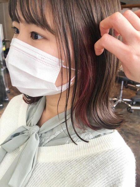 イエベ春×ベリーピンクのインナーカラー
