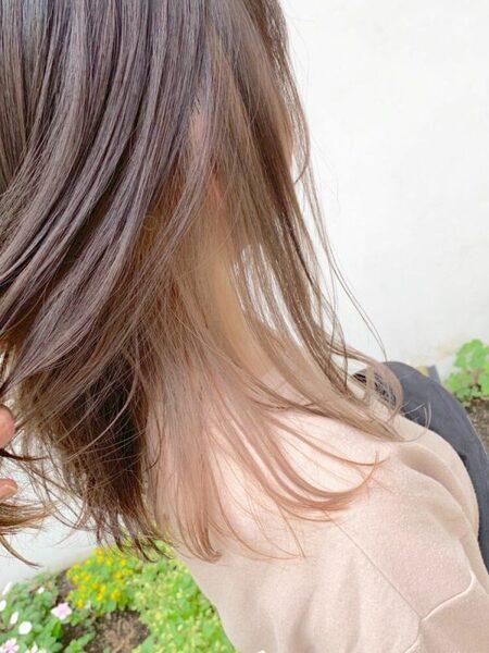 イエベ春×ミルクティーベージュのインナーカラー