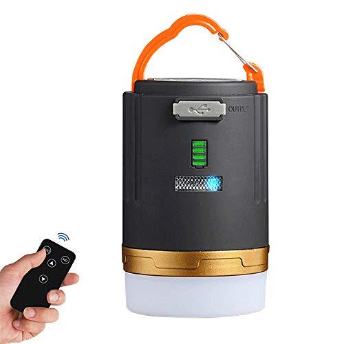 LEDランタン リモコン付き キャンプ USB充電式 防水 小型 吊り下げフック&マグネット搭載