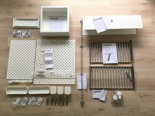 IKEAで購入した収納パーツ