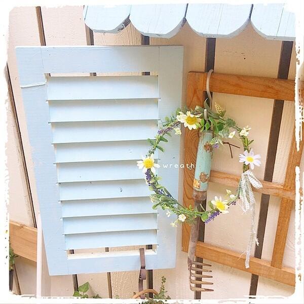 造花で作るリース