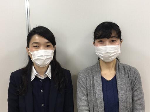 マテックスの藤代慶美さんと岩﨑美紗子さん