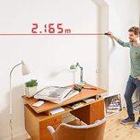 ボタンを押すだけで瞬時に距離を測定! 引っ越しや模様替えを助けてくれる光学メジャー