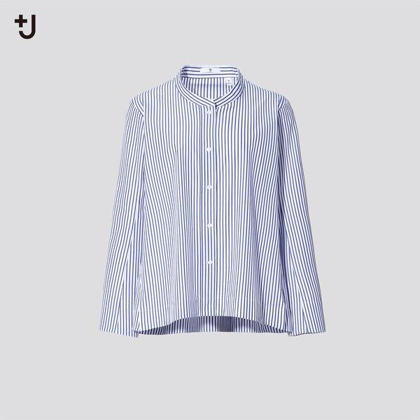 スーピマコットンストライプシャツジャケット