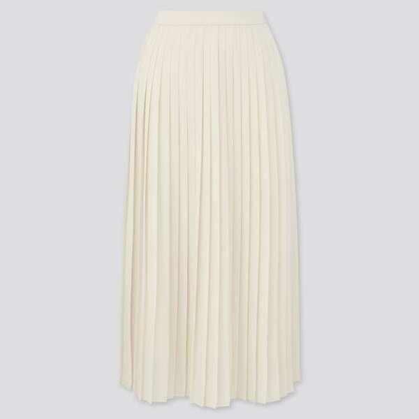ユニクロのシフォンプリーツロングスカート