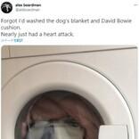 洗濯機の中から覗く男? 驚愕した男性「心臓発作を起こすところだった」(英)