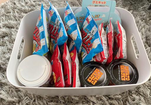 無印良品「やわらかポリエチレンケース」はお菓子の収納にも便利