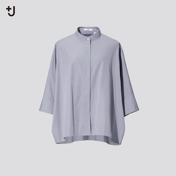 ユニクロのスーピマコットンドルマンスリーブシャツの写真