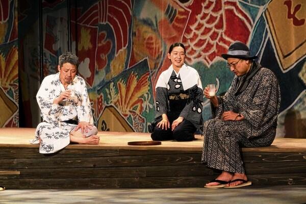 (左から) 福田転球、江口のりこ、山内圭哉 撮影:細野晋司