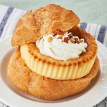 「シュークリーム」と「バスク風チーズケーキ」人気スイーツがコラボ 「ガブッと!BASCHEESEバーガー」ローソンストア100で発売!