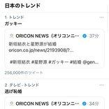 新垣結衣さんと星野源さんが結婚を発表!「ガッキー」「逃げ恥婚」「契約結婚」などの関連ワードがTwitterのトレンドを席巻