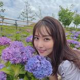 石川恋、綺麗な紫陽花との最強ショットに「麗しい」の声