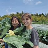 石川恋、トラウデン直美とベジ活ショット「美女と野菜」