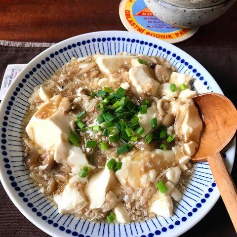 豆腐ときのこのそぼろ煮