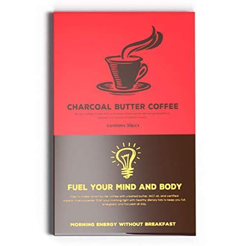 バターコーヒー MCTオイル 配合 スティック(30包)インスタント ダイエットコーヒー チャコールバターコーヒー(赤箱)