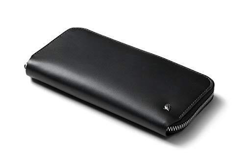 Folio(カード10-14枚程度、紙幣を折らずに収納できる札入れ2つ、取り出しやすいマグネット留めのコインポーチ、スマートフォン) - Black