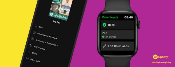 SpotifyのコンテンツをApple Watchへダウンロードする方法の画像