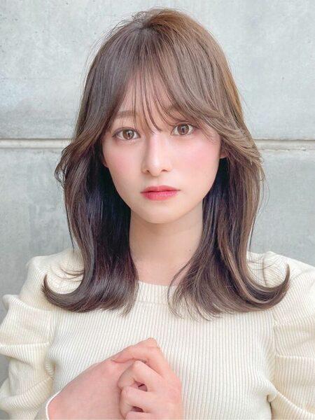 大人かわいいおしゃれな韓国風くびれヘア