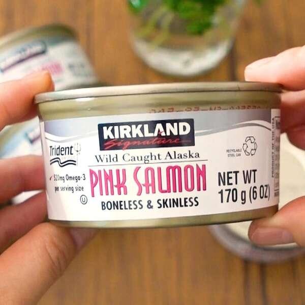 ワイルドピンクサーモン缶