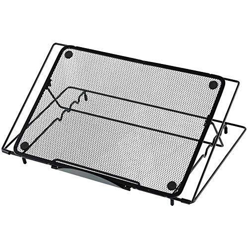 アイリスプラザ ノートパソコン PCスタンド パソコンスタンド ノートパソコンスタンド 折りたたみ式 軽量 タブレットスタンド 角度調整可能 3段階 ブラック NPTB-370 37×23×3.2cm
