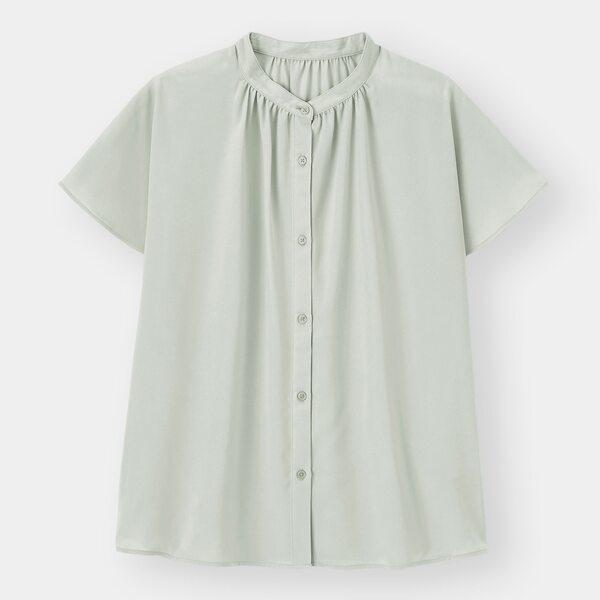 エアリーバンドカラーシャツ