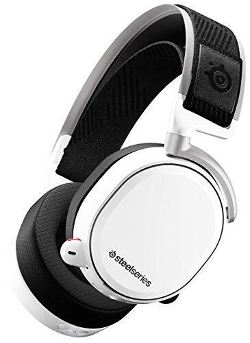 【 国内正規品 】密閉型 ワイヤレス ゲーミングヘッドセット SteelSeries Arctis Pro Wireless 61474 PC PS4対応 7.1chサラウンド (ホワイト)