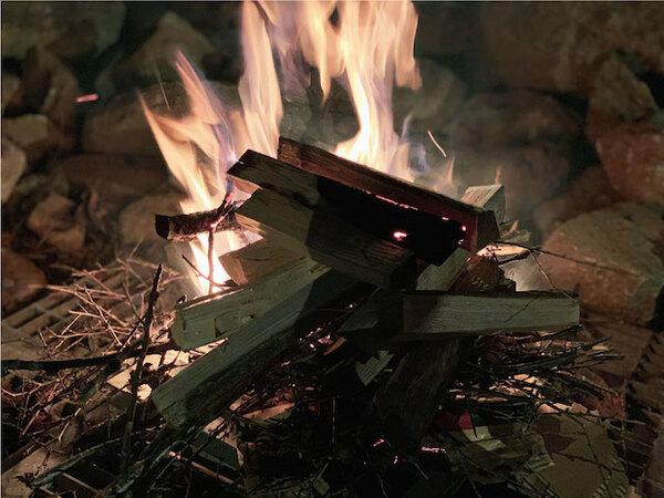 焚き火ができるスペース
