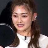井上咲楽、マスクメイクを施した自身の顔に感動!!「わたし、小顔になったかしら」。『KATE 小顔シルエットマスク 第2弾』発売イベント