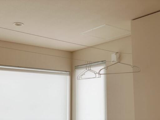 室内物干しワイヤー「pid 4M」を設置